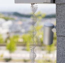機能性、意匠性を兼ね備えたオリジナル鎖樋【リボン鎖樋】